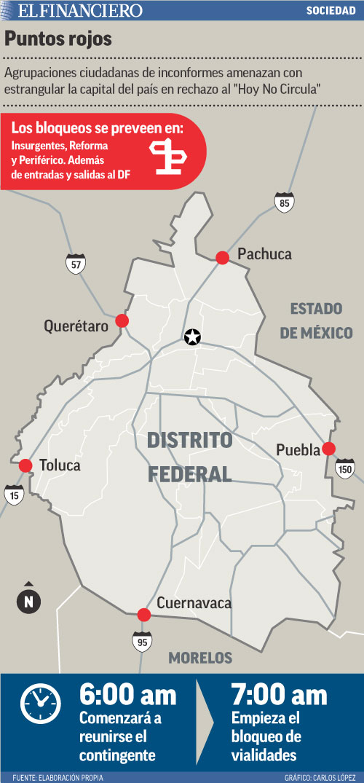 Agrupaciones ciudadanas de inconformes amenazan con estrangular la capital del país en rechazo al