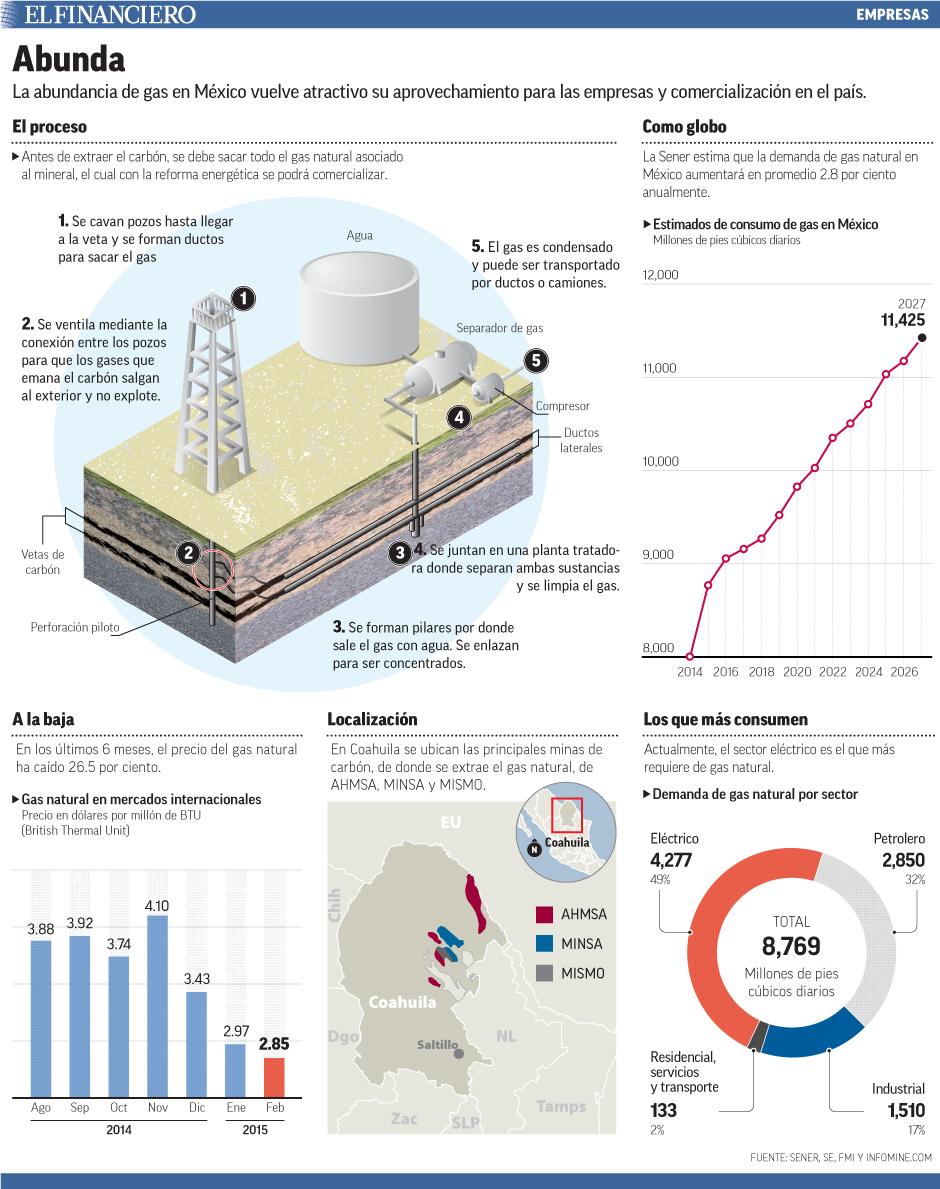 La abundancia de gas en México vuelve atractivo su aprovechamiento para las empresas y comercialización en el país.