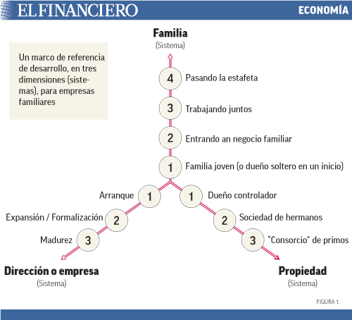 Un marco de referencia de desarrollo, en tres dimensiones (sistemas), para empresas familiares